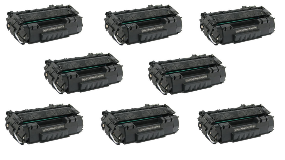Compatible HP LaserJet 1160/1320 Jumbo Toner Cartridge (8/PK-4000 Page Yield) (NO. 49AJ) (Q5949AJ8PK)