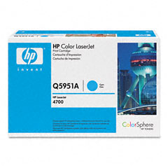 HP Color LaserJet 4700 Cyan Toner Cartridge (10000 Page Yield) (NO. 643A) (Q5951A)
