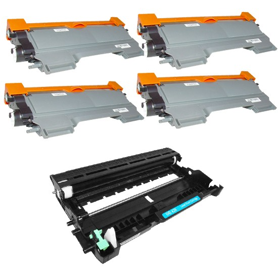 Compatible Brother DR-420/TN-450VB Drum/Toner Combo Pack (1ea-Drum-12000 Page Yield/4 Toners-2600 Page Yield)