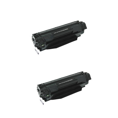 MICR HP LaserJet P1505 Toner Cartridge (2/PK-2000 Page Yield) (NO. 36A) (CB436D)