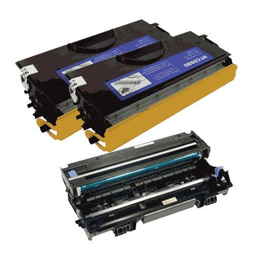 Compatible Brother DR-520/TN-580XVB Hi Yield Combo Pack (1-Drum - 25000 Page Yield / 2 Toners - 12000 Page Yield)