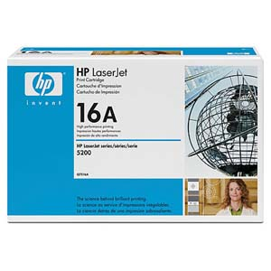 Hewlett Packard Laserjet 5200 Print Cartridge (12000 Page Yield) (Q7516A)
