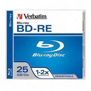 Verbatim Bd-Re 25GB 2x Branded 1PK Jewelcase (95358)