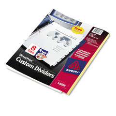Avery Direct Print 3-Hole Dividers (8-Tab/4 Sets/PK) (11537)