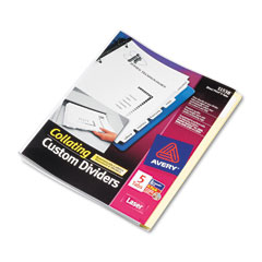Avery Direct Print Dividers (5-Tab/4-Sets PK) (11538)