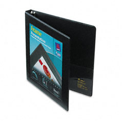 Avery Black Nonlocking Slant Ring View Binder (1/2in) (68050)