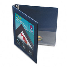 Avery Navy Blue Nonlocking Slant Ring View Binder (1/2in) (68051)