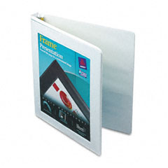 Avery White Nonlocking Slant Ring View Binder (1/2in) (68052)