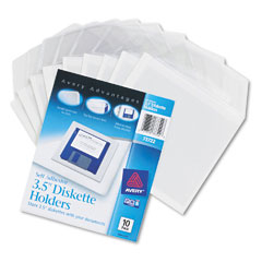 Avery Self-Adhesive 35in Diskette Pockets (10/PK) (73722)