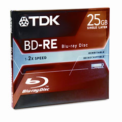TDK Blu-Ray BD-RE Rewritable Disc/2x/Jewel Case/25GB (48699)