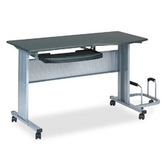 Tiffany Chargoal Gray Mobile Work Table (8100TDANT)