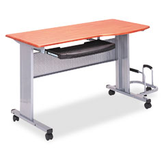 Tiffany Medium Cherry Mobile Work Table(47-1/4 x 24 x 28-1/2) (8100TDMEC)